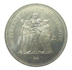 100 grammes d'argent pur - 50 Francs Hercule (LSP)