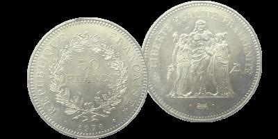 b54ada18e42655 Hercule, la pièce en argent française