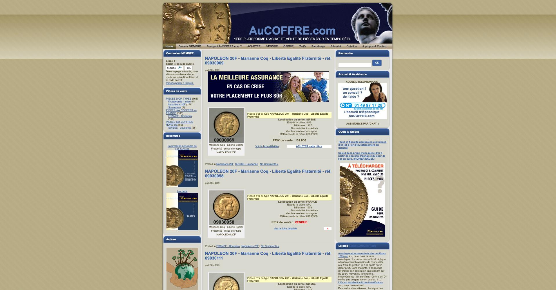 AuCOFFRE.com première version