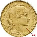 1 gramme d'or pur - Napoléon (LSP)