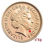 1 gramme d'or pur - Souverain (LSP)