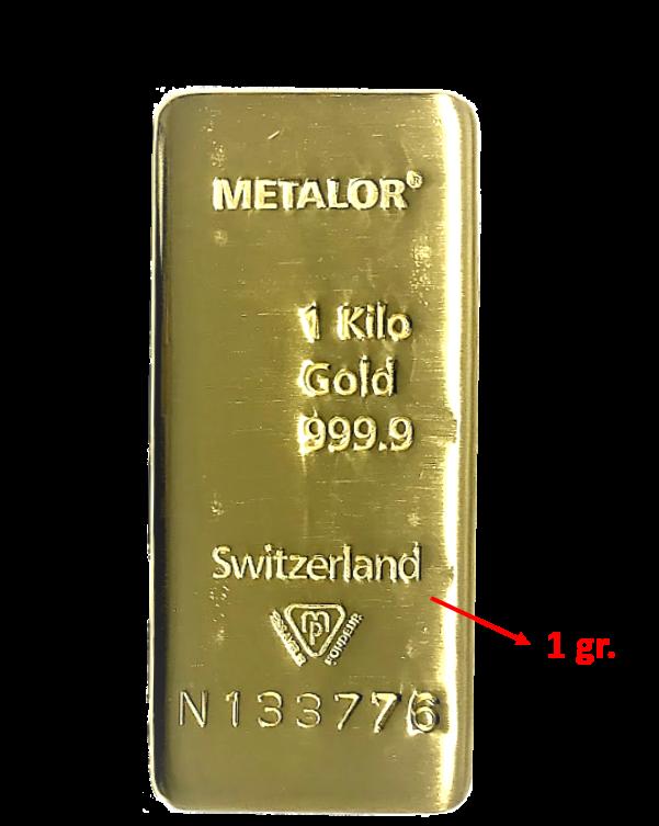 1 gramme d'or pur (Lingot LSP)