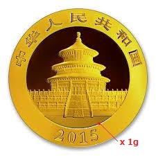 1 gramme d'or pur - Panda (LSP)