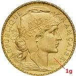 1 gramme d'or pur - Napoléon (LSP) 20 Francs