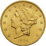 20 Dollars US (Double Eagle) Liberty de Longacre - Twenty Dollars