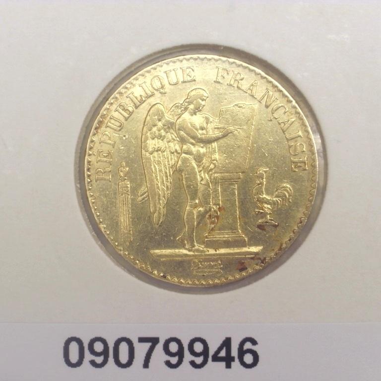 Réf. 09079946 Napoléon 20F  Génie IIIème République - AVERS
