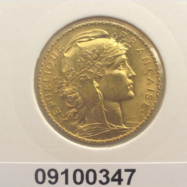 Réf. 09100347 Napoléon 20 Francs Marianne Coq - Liberté Egalité Fraternité - AVERS