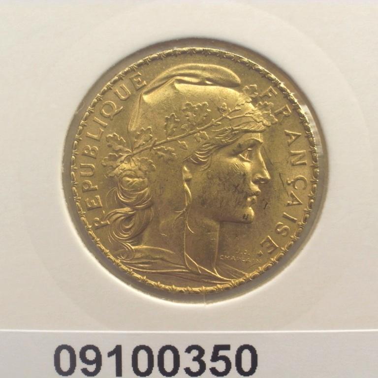 Réf. 09100350 Napoléon 20 Francs Marianne Coq - Liberté Egalité Fraternité - AVERS