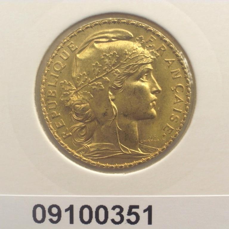 Réf. 09100351 Napoléon 20 Francs Marianne Coq - Liberté Egalité Fraternité - AVERS