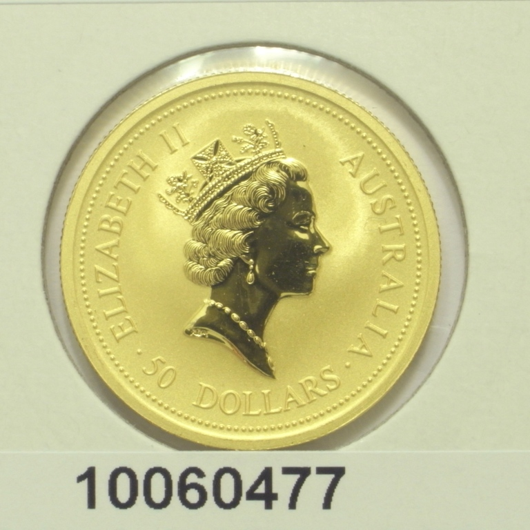 Réf. 10060477 Australian Nugget 1/2 once 50 Dollars Kangourou 1998 - AVERS