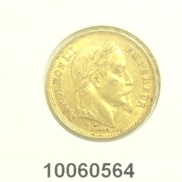 Réf. 10060564 Napoléon 20F  Napoléon III Tête Laurée - AVERS