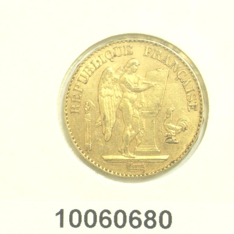 Réf. 10060680 Napoléon 20F  Génie IIIème République - AVERS