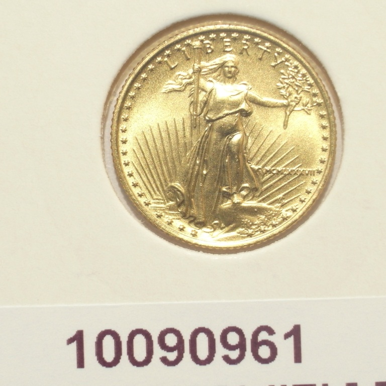 Réf. 10090961 Eagle 1/10 once 5 Dollars US - AVERS