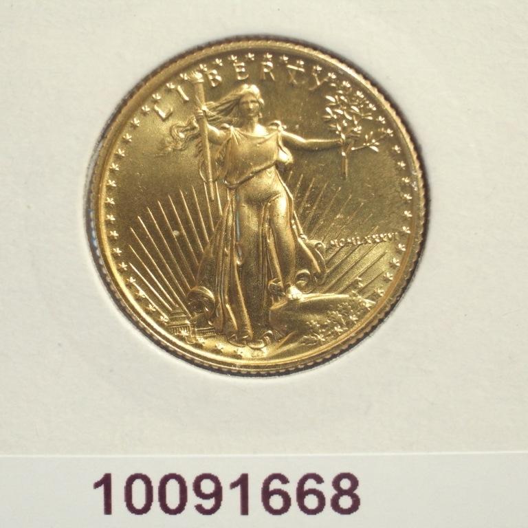 Réf. 10091668 Eagle 1/4 once 10 Dollars US - AVERS