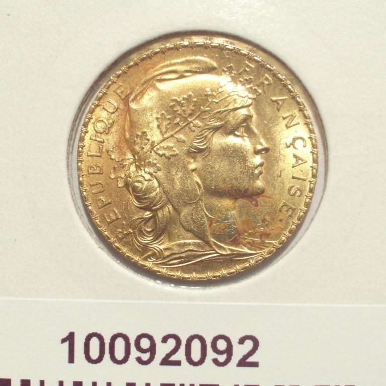 Réf. 10092092 Napoléon 20 Francs Marianne Coq - Liberté Egalité Fraternité (LSP) - AVERS
