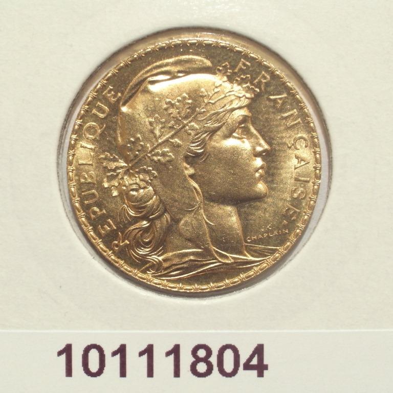 Réf. 10111804 Napoléon 20F  Marianne Coq - Liberté Egalité Fraternité - AVERS