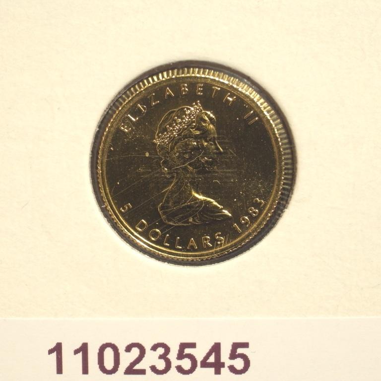 Réf. 11023545 Maple Leaf 1/10 once 5 Dollars Canada Elizabeth II - 9999 - AVERS