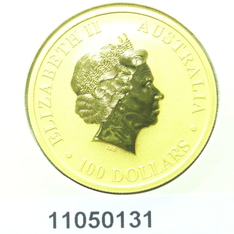Réf. 11050131 Australian Nugget 1 once 100 Dollars Kangourou 2011 - AVERS