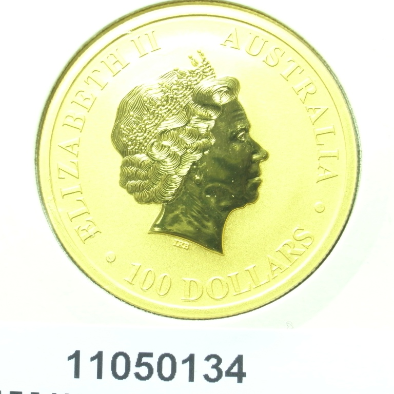 Réf. 11050134 Australian Nugget 1 once 100 Dollars Kangourou 2011 - AVERS