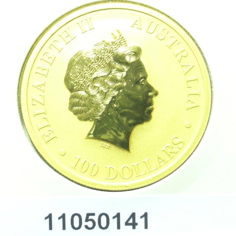 Réf. 11050141 Australian Nugget 1 once 100 Dollars Kangourou 2011 - AVERS