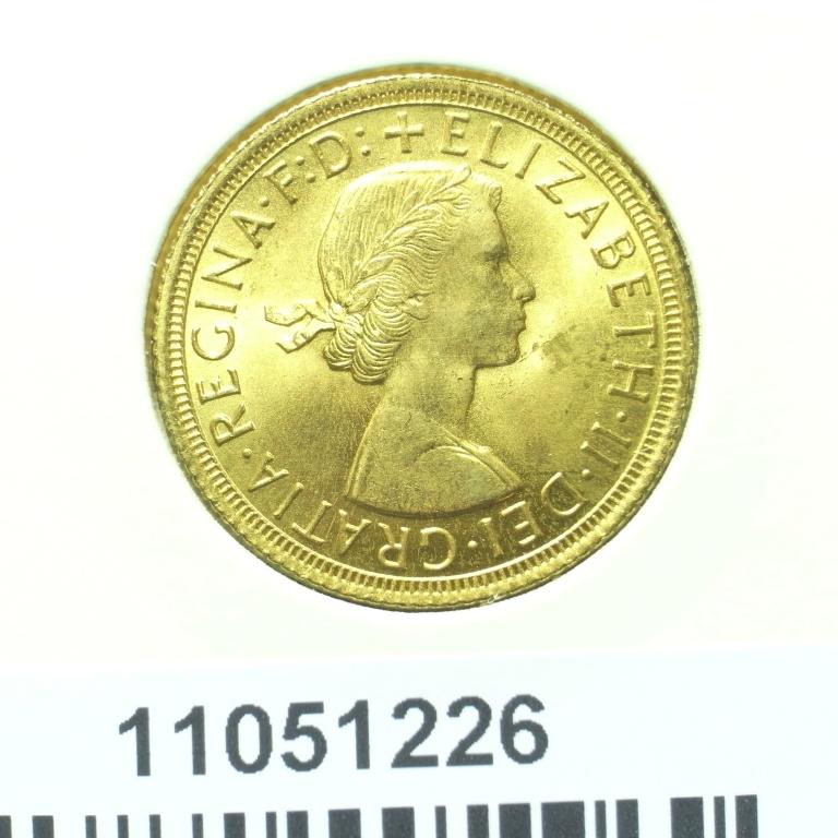 Réf. 11051226 Souverain Elisabeth II  Buste Lauré (1957-1968) - AVERS