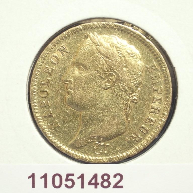 Réf. 11051482 Napoléon 40F  Napoléon 1er tête laurée, république française - AVERS