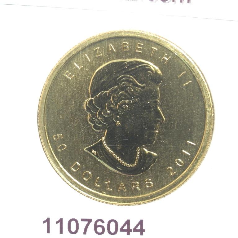 Réf. 11076044 Maple Leaf 1 once - 50 Dollars   Elizabeth II - 9999 - AVERS