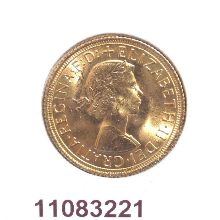 Réf. 11083221 Souverain Elisabeth II  Buste Lauré (1957-1968) - AVERS