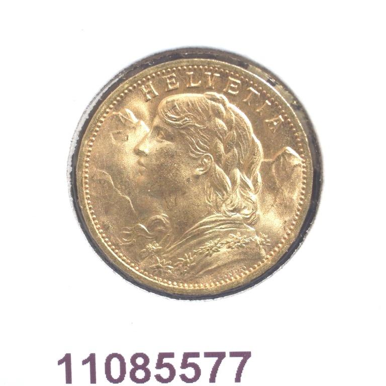Réf. 11085577 20 Francs Suisse  Vreneli - AVERS