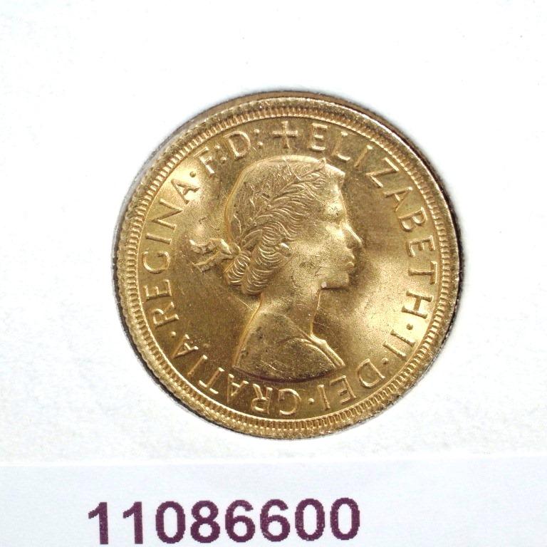 Réf. 11086600 Souverain Elisabeth II  Buste Lauré (1957-1968) (LSP) - AVERS
