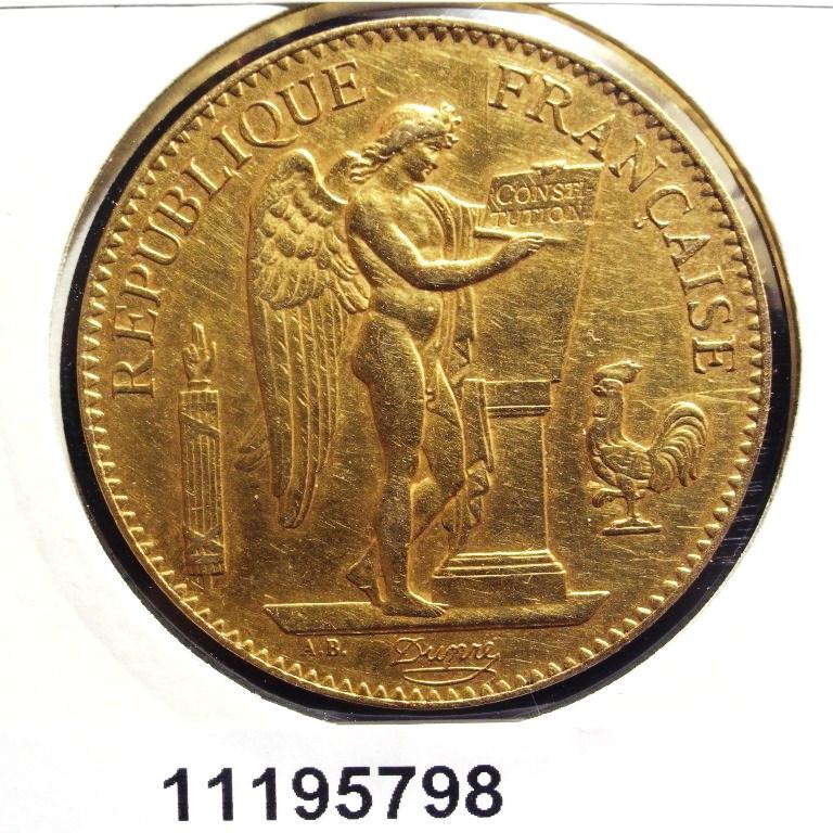 Réf. 11195798 Napoléon 100F  Génie IIIème République DPF - AVERS