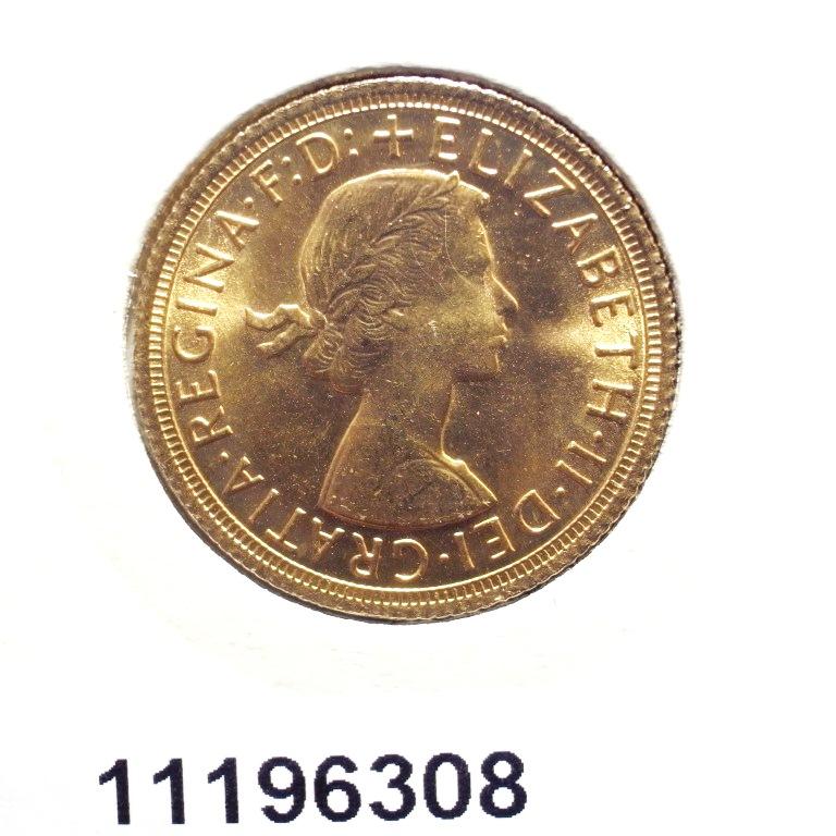 Réf. 11196308 Souverain Elisabeth II  Buste Lauré (1957-1968) - AVERS