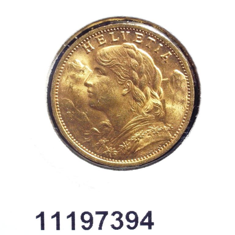 Réf. 11197394 20 Francs Suisse  Vreneli (LSP) - AVERS