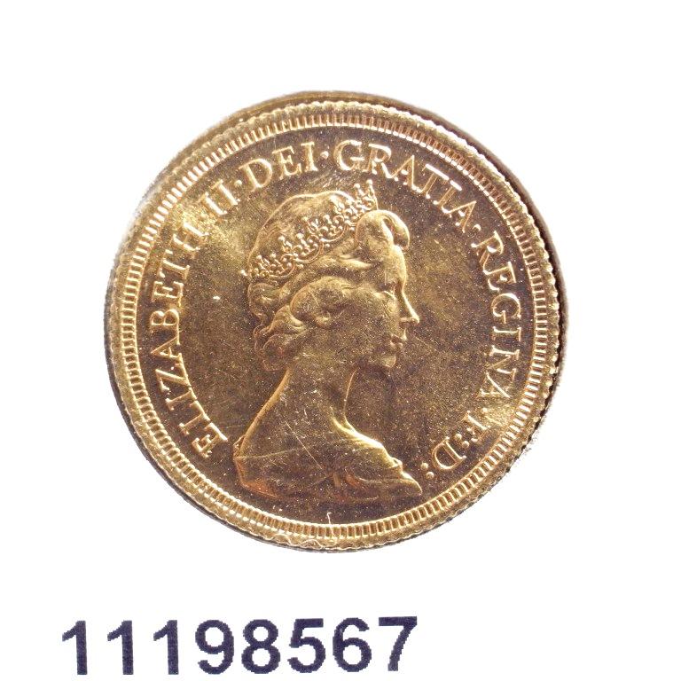 Réf. 11198567 Souverain Elisabeth II  Jeune et buste couronné (1973-1984) - AVERS