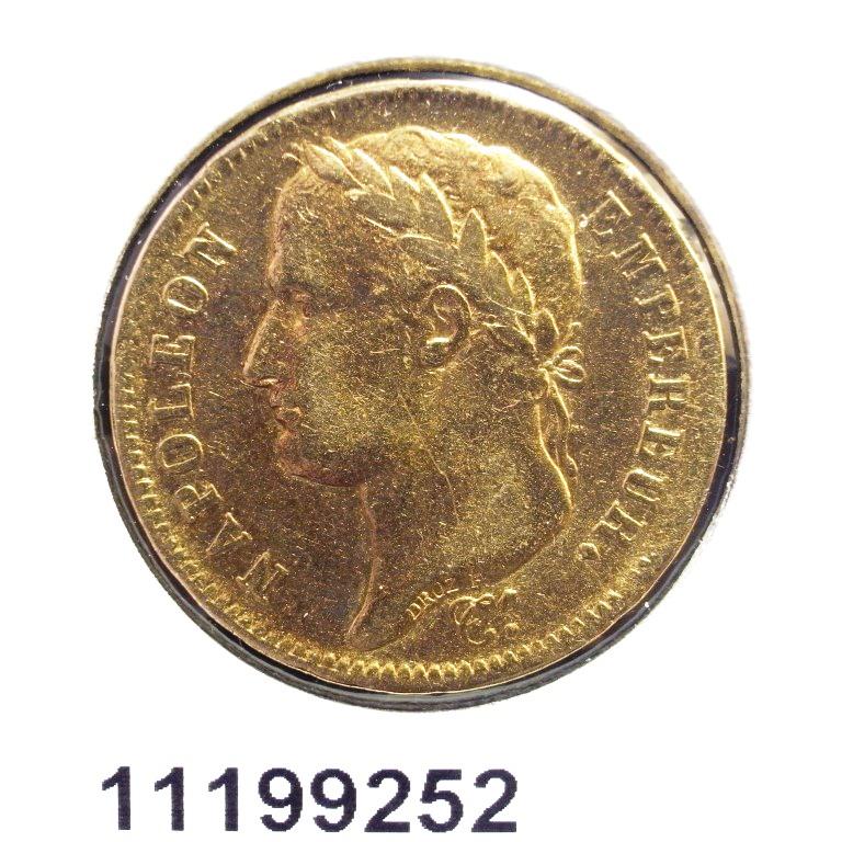 Réf. 11199252 Napoléon 40F  Napoléon Ier Tête Laurée Empire Français - AVERS