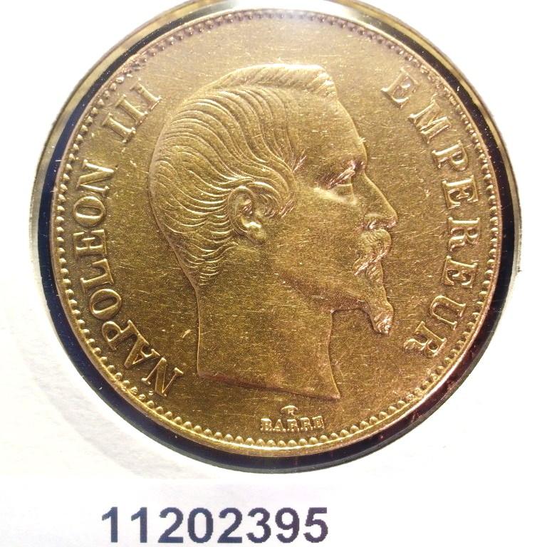 Réf. 11202395 Napoléon 100F  Napoléon III Tête nue - AVERS