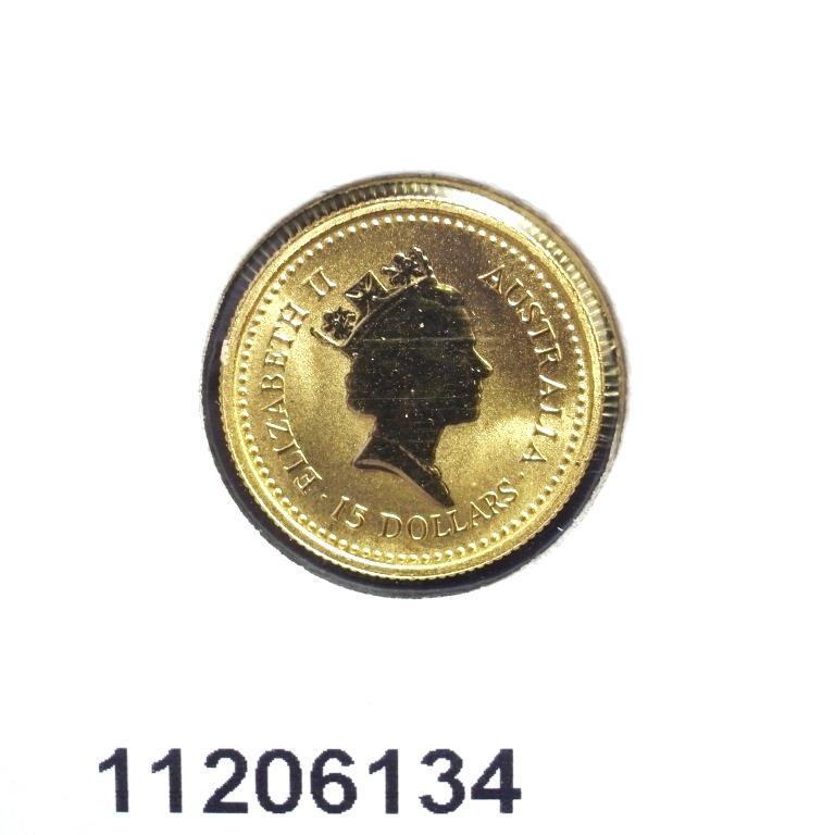Réf. 11206134 Australian Nugget 1/10 once 15 Dollars Little Hero - AVERS
