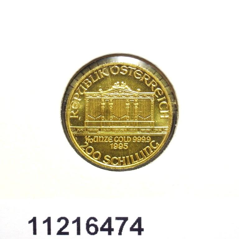 Réf. 11216474 Philharmonique de Vienne 1/10 once - 10 Euros  Golden Hall Organ - AVERS