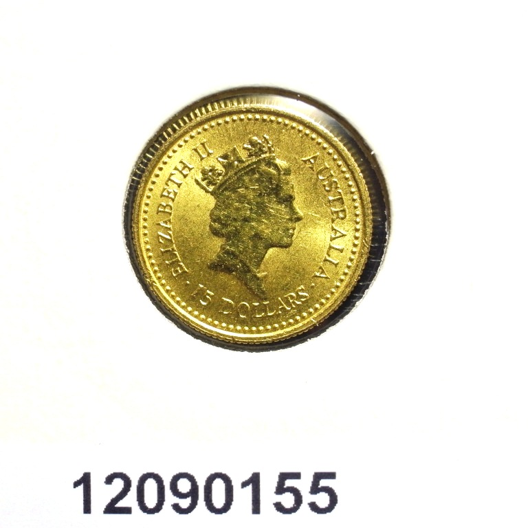 Réf. 12090155 Australian Nugget 1/10 once 15 Dollars Little Hero - AVERS
