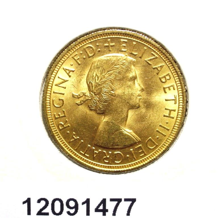 Réf. 12091477 Souverain Elisabeth II  Buste Lauré (1957-1968) - AVERS
