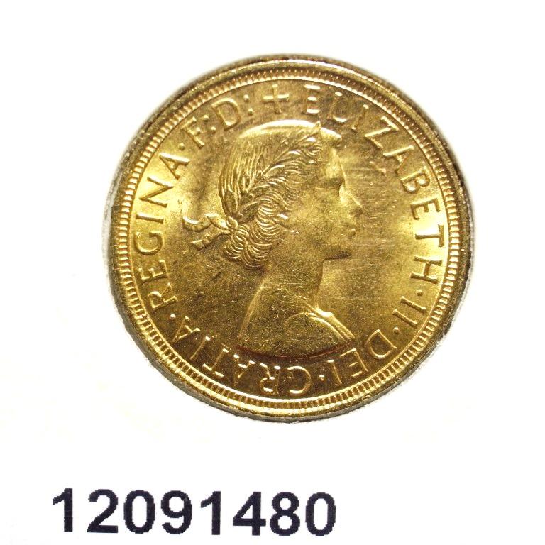 Réf. 12091480 Souverain Elisabeth II  Buste Lauré (1957-1968) - AVERS