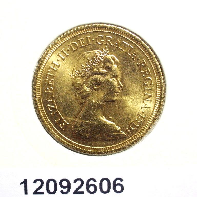 Réf. 12092606 Souverain Elisabeth II  Jeune et buste couronné (1973-1984) - AVERS