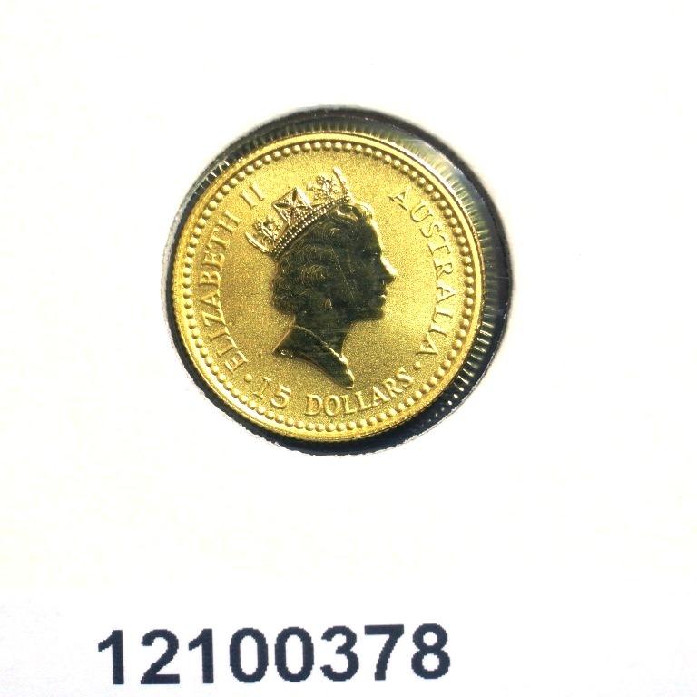 Réf. 12100378 Australian Nugget 1/10 once 15 Dollars Kangourou  1991-1992 - AVERS