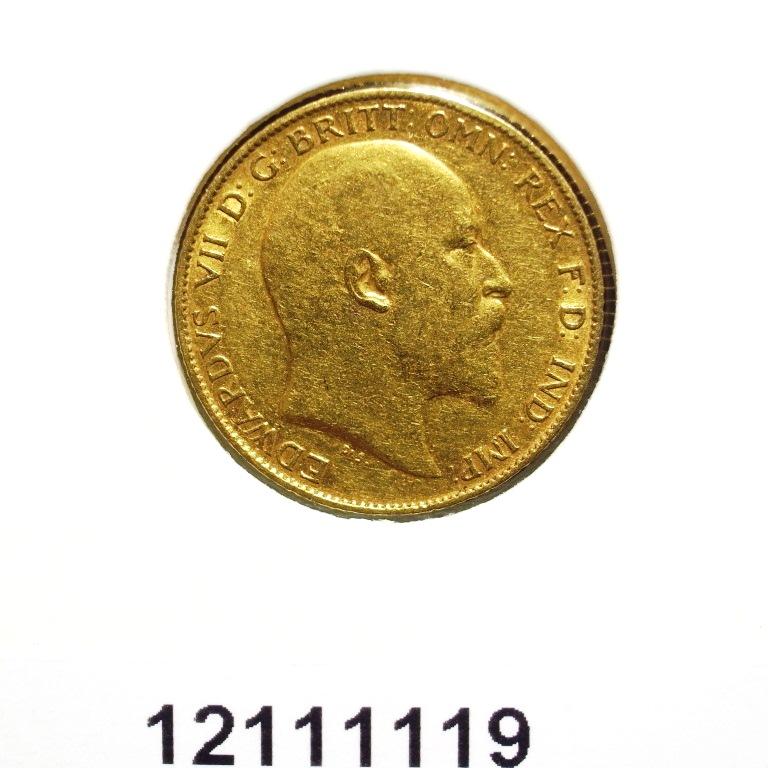 Réf. 12111119 Demi-Souverain  Edward VII - AVERS
