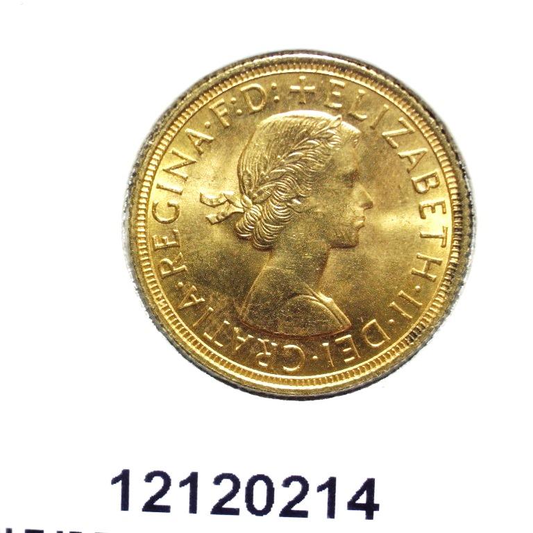 Réf. 12120214 Souverain Elisabeth II  Buste Lauré (1957-1968) - AVERS