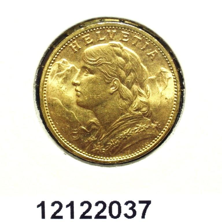 Réf. 12122037 20 Francs Suisse  Vreneli - AVERS