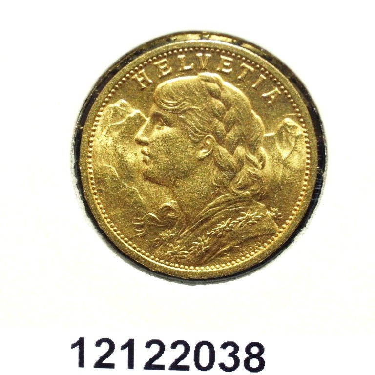 Réf. 12122038 20 Francs Suisse  Vreneli - AVERS