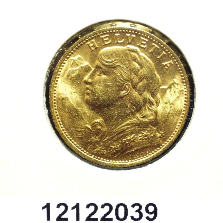 Réf. 12122039 20 Francs Suisse  Vreneli - AVERS