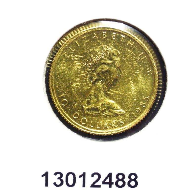 Réf. 13012488 Maple Leaf 1/4 once 10 Dollars Canada Elizabeth II avec tiare - AVERS