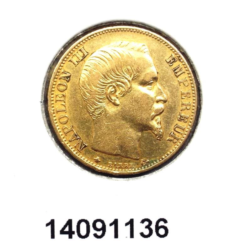 Réf. 14091136 Napoléon 20F  Napoléon III Tête Nue - AVERS